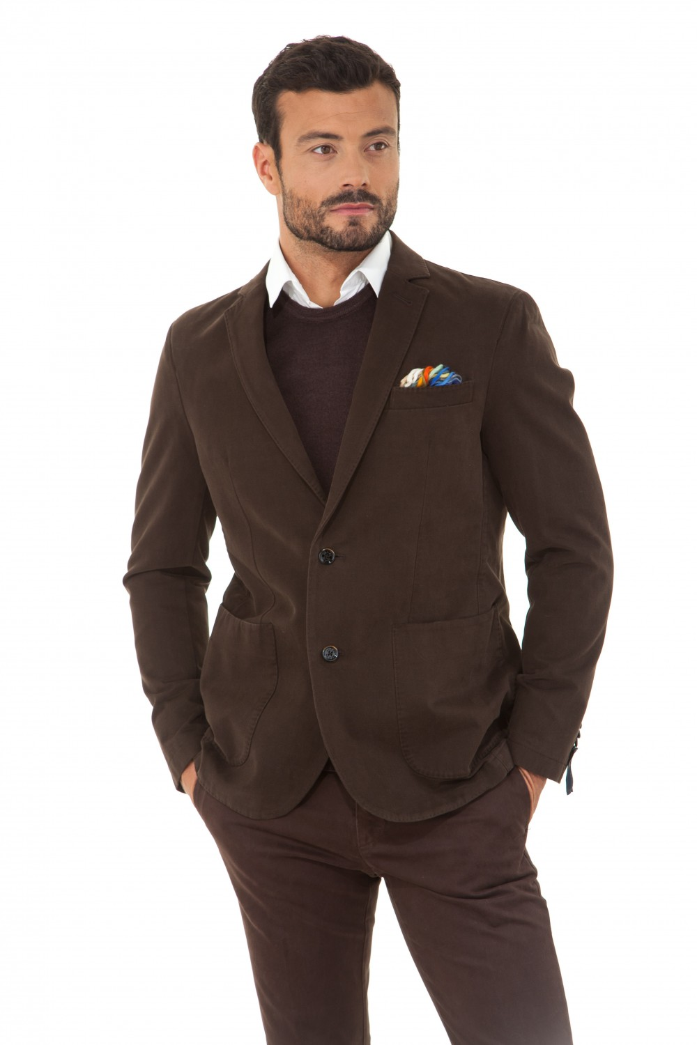 veste blazer marron pour homme at p co alan60 16 cesare nori depuis 1955. Black Bedroom Furniture Sets. Home Design Ideas