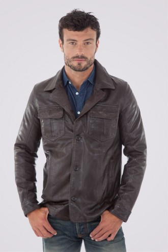 Outlet Homme Veste Daytona 73 Hutch Reddish Brown