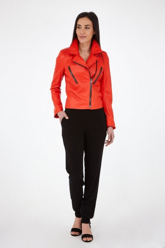 Veste en cuir Cesare Nori PATIENCE ORANGE