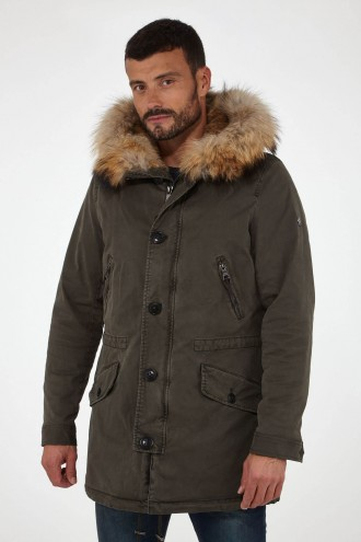 Doudoune et parka homme Blonde N°8 St MORITZ/515 Night green 7100