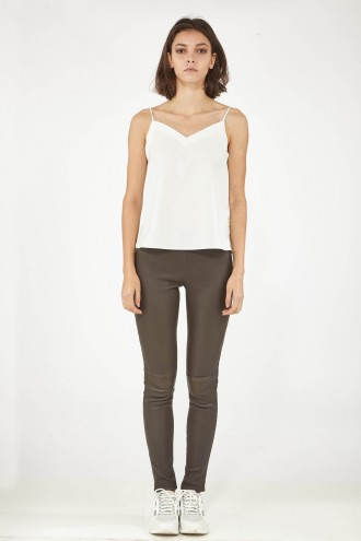 Pantalon cuir, jupe en cuir Oakwood ASTEROIDE Marron