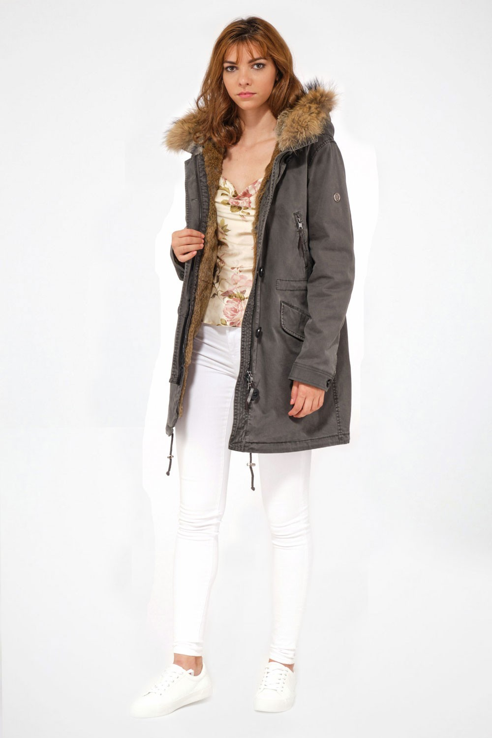 Doudoune et Parka femme Blonde N°8 ASPEN 515 Night Green/7100
