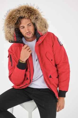 Textile pour Homme Helvetica ANCHORAGE Red