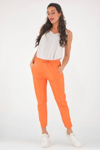 Pantalon en cuir Oakwood GIFT Orange