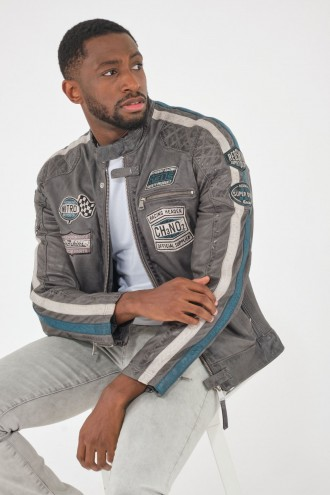 Blouson Cuir Homme Redskins RIPPER Charcoal